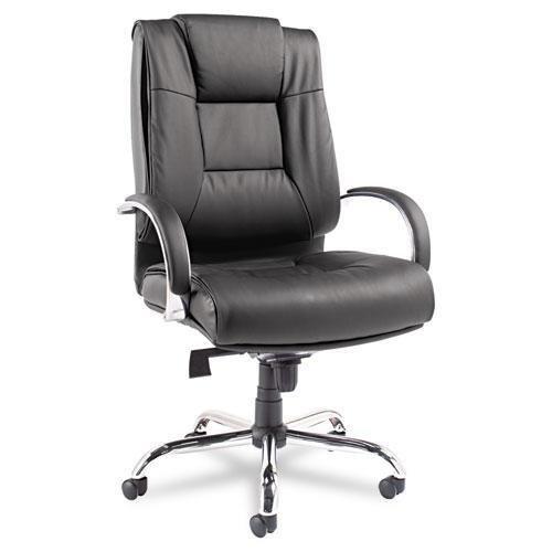 ALERA RV44LS10C Ravino Big & Tall Series High-Back Swivel/Tilt Leather Chair, Black