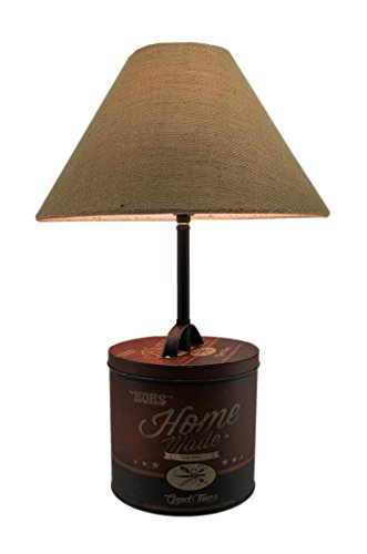 Moms Homemade Good Times Antique Tin Table Lamp