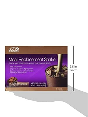 Advocare Meal Replacement Shakes - Box of 14 Single Serve Pouches,2.08 oz each,(chocolate Mocha Flavor)