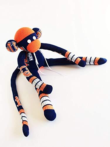 Auburn University- Sock Monkey - AU - Tigers Plush - Navy Sock Monkey - Auburn Tigers - NCAA - College Sock Monkey - Tigers3