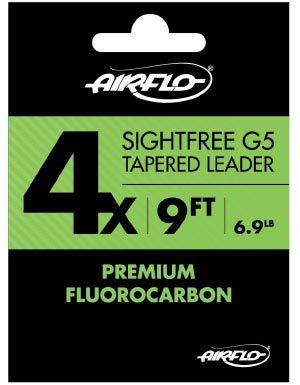 Airflo Sightfree g5 Fluorocarbon Tapered引出線 B01BI6M1UQ   4X