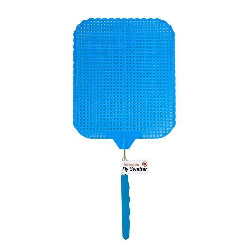 123-Wholesale - Set of 24 Giant Telescopic Fly Swatter Display - Household Supplies Pest Control