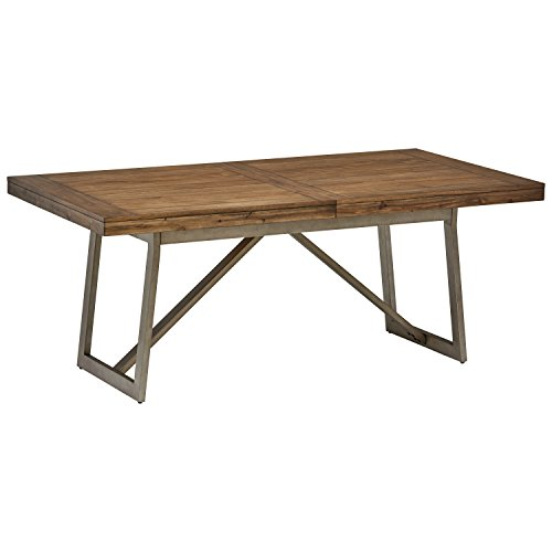 Stone & Beam Hughes Casual Farmhouse Wood Dining Kitchen Table, 60-80
