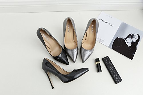 luce con con ZHZNVX di punta tacchi Donna alti singolo un scarpe belle con gray i nuova 1X8qEpwrx8