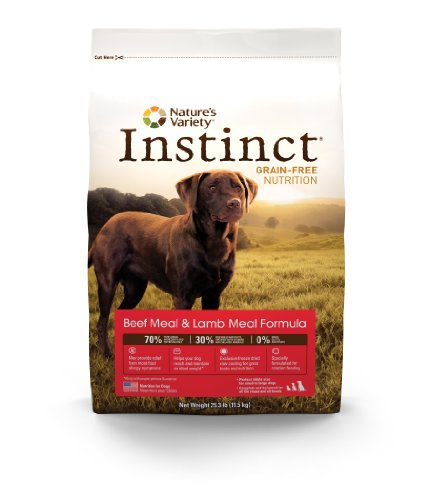 Instinct Grain-Free Beef Meal and Lamb Meal Dry Dog Food by Nature's Variety, 25.3-Pound Package, My Pet Supplies