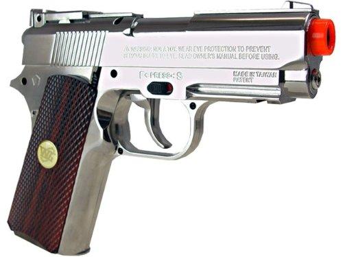 wg tactical mini 1911 pistola de airsoft de metal completo co2 - plata / negro (pistola de airsoft)