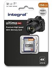 Integrale SD-kaart 256 GB, premium 4K, SDXC snelopslagkaart tot 100 MB/s, V30, UHS-I, U3 100 MB/s U3 V30. 256 GB 256 GB