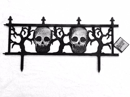 Trick or Treat Halloween Fence Yard Decor - Black and White (Halloween Fence)