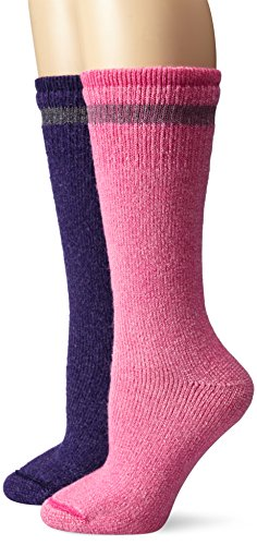 Wigwam Women's Super Heavyweight Boot Sock 2-Pack, Assortment, Medium