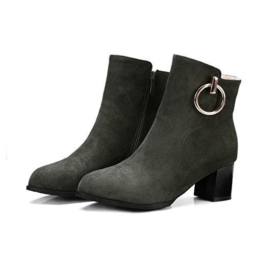 Balamasa Womens Fashion Pekte Tå Slip-resistente Semskede Støvler Abl10094 Grønn