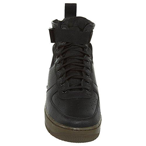 Nike Uomo Force in SF Dark 1 Tessuto Mid Black 101 Black 917753 e Bianco Wmns Hazel Air Scarpe Pelle rF5qwr