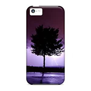 LastMemory Case For Iphone 5c With Nice Tree In Strom Appearance
