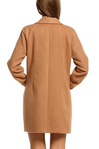 Kaki Hiver Long S Rabattu Bouton xxl Blouson Classique Femme Col Unibelle Manteau Veste BCxedo