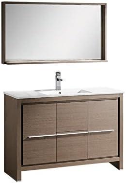 Fresca Bath FVN8148GO Allier 48 Vanity with Mirror, Gray Oak