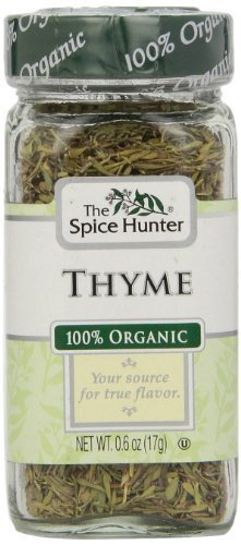 The Spice Hunter Thyme, Organic, 0.6-Ounce Jar by Spice Hunter