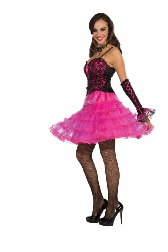 [Forum Layered Costume Underskirt, Pink, Standard] (Hot Pink Party Skirt Costumes Petticoat)