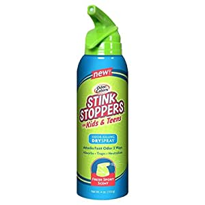 Odor-Eaters Stink Stoppers for Kids & Teens Dry Spray, 4 Oz (Pack of 2)