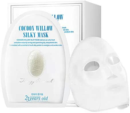 23 Years Old Cocoon Willow Silky Mask - Delivers Ultra Fresh Instant Toning, Quenching Dry Dehydrated Skin, 5 Sheets/Box