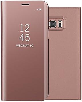 Funda® Espejo Enchapado Flip Funda para Samsung Galaxy S7 Edge (Oro Rosa): Amazon.es: Electrónica