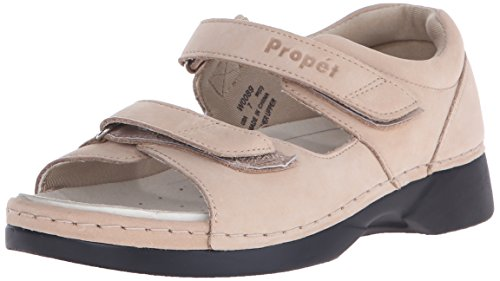 (Propet Women's W0089 Pedic Walker Sandal,Dusty Taupe Nubuck,8 M (US Women's 8 B))