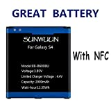 Sunwuun 2900mAh Galaxy S4 Li-ion Replacement Battery with NFC Function for Samsung AT&T I337, Verizon I545, Sprint L720, T-Mobile M919, R970, I9500, I9505 Galaxy S4 LTE I9506
