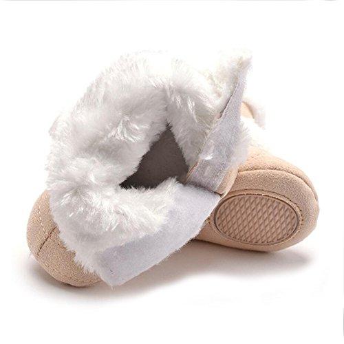 YYF Baby Schuhe Dick Warm Baby Classic Schnee Stiefel PL¨¹SCH Wolle Garn Winter Schuhe Braun