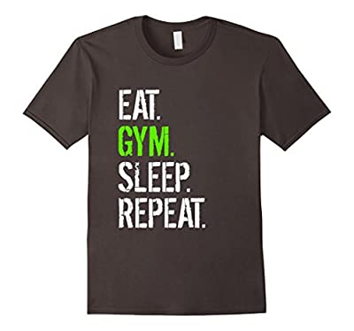 Funny Gym Shirt - Motivational Eat Gym Sleep Repeat T-Shirt