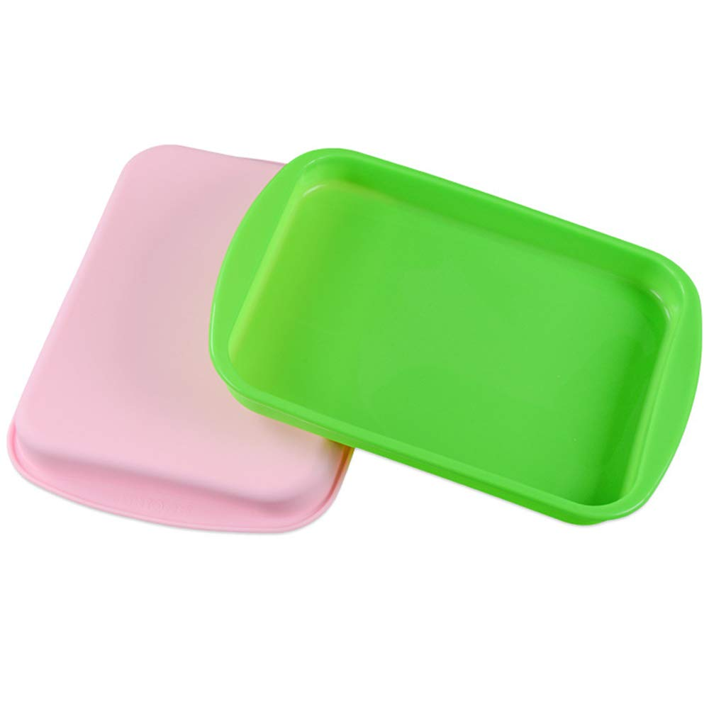 2 St/ück Rechteckig Backen antihaftbeschichtet flexibles Silikon Toast f/ür K/üche f/ür Kuchen Brot Ecosway Silikon-Backformen rechteckig