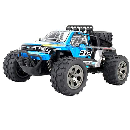 1:18 2WD RC Car,High Speed Racing Off Road Vehicle Toy Remote Control Car for Adults + Kids (1886-B Blue)