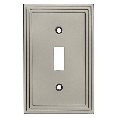 Cosmas 25053-SN Satin Nickel Single Toggle Switch Plate Switchplate Cover