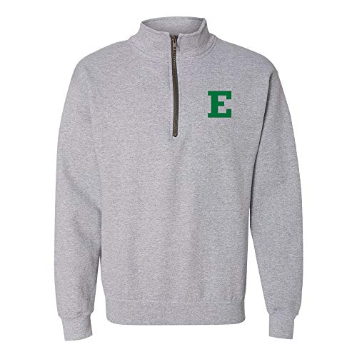 Eastern Football Michigan (AQ07 - Eastern Michigan Eagles Primary Logo LC QZIP - 2X-Large - Sport Grey)