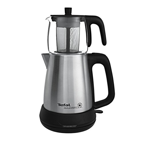 TEFAL TEA EXPERT GLASS DRILLING MACHINE, Electric Machine Tea Maker, Teapot Glass Capacity 0.7 Lt With Filter, 1.8 Lt Water Heater, Power 1650W, stainless steel, Serves Guests, Samovar Semaver