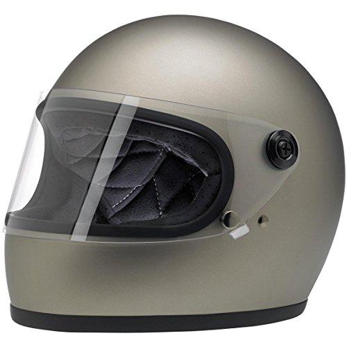 Biltwell GSTITFLGRYMED Unisex-Adult Full-Face-Helmet-Style Flat Gringo S DOT Certified Full-Face Helmet (Titanium, Medium)