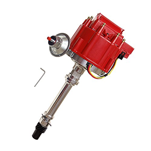 Chevy V8 Timing (Chevy V8 Red Cap Complete HEI Distributor w/ 65K Coil 7500RPM For 350 454 SBC BBC Red Cap)