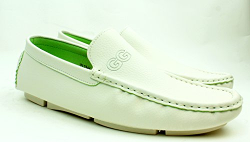 Unisex Mocasines Sin Cordones Informal Mocasines Zapatos De Conducción Cómodo Moda Suela Tallas Blanco
