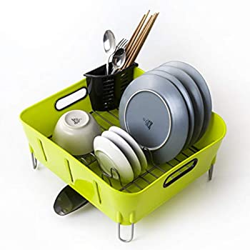 Amazon Com Dish Drying Rack And Drainboard Set With