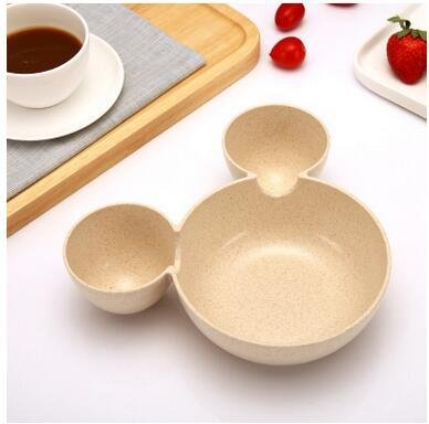 Wall of Dragon Cute Cartoon Children 's Straw Dinner Plate Creative Mickey Wheat Bowl Baby Gift Fruit Bowl Meal Bowl drop shipping
