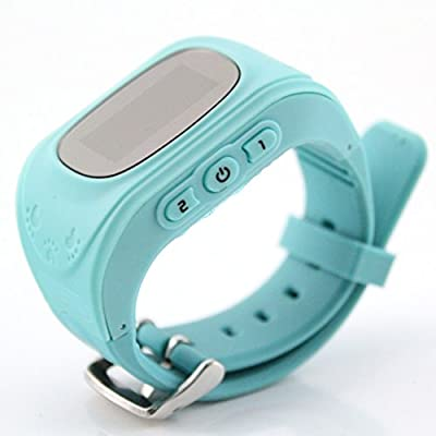 EasySMX GPS Watch for Kids W5 Personal GPS Tracker Watch Mobile Phone Telephone Alarm Clock Child Anti-lost Locator Dial Call