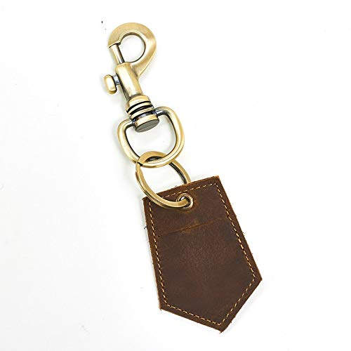 Vintage Coin Token - Key Wallets - Genuine Leather Men Women Keychain Housekeeper Keyring Coin Purse Token Cover Bag Crazy Horse Cowhide Vintage Key Car Bags - by YPT - 1 PCs