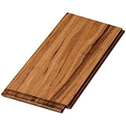 "Cali Bamboo - Eucalyptus Hardwood Flooring, Wide Click, Mocha Brown - Sample Size 8"" L x 5 1/4"" W x 9/16"" H"