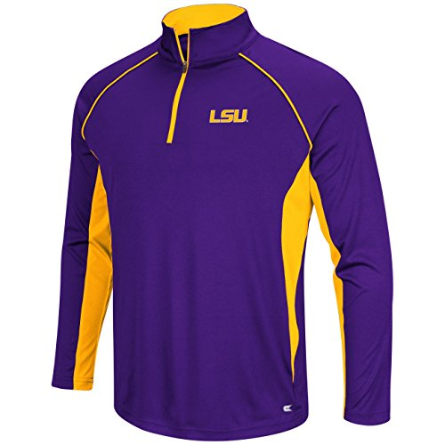 LSU Tigers Airstream Quarter Zip Pullover Synthetic Windshirt