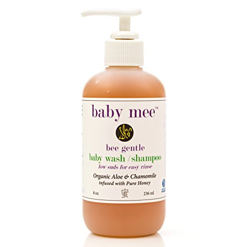 Baby Wash Kids Shampoo - Organic Aloe, Chamomile & Natural Honey For Soothing Eczema, Cradle Cap, and Dry, Itchy, Sensitive Skin & Scalp - Tear Free - for Babies, Toddlers & Big Kids