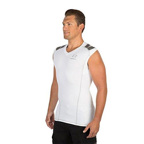 IntelliSkin Men's V-Tank with PostureCue White Large
