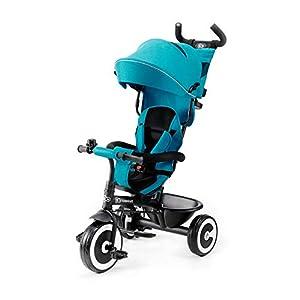 Kinderkraft Triciclo Evolutivo ASTON, Plegable, Cinturón, 9 Meses a 5 Años, Azul 41xnZgSBtnL