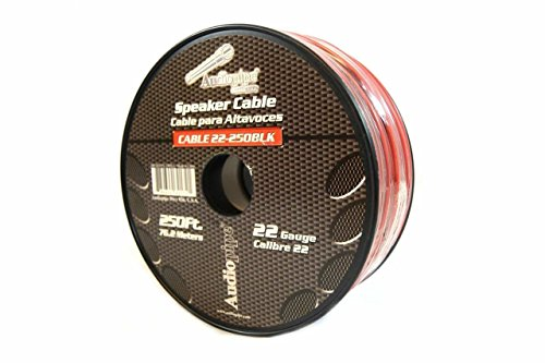 Speaker Wire 22 GA 250 Feet Red Black Stranded Copper Clad Home Audio Sound by Audiopipe
