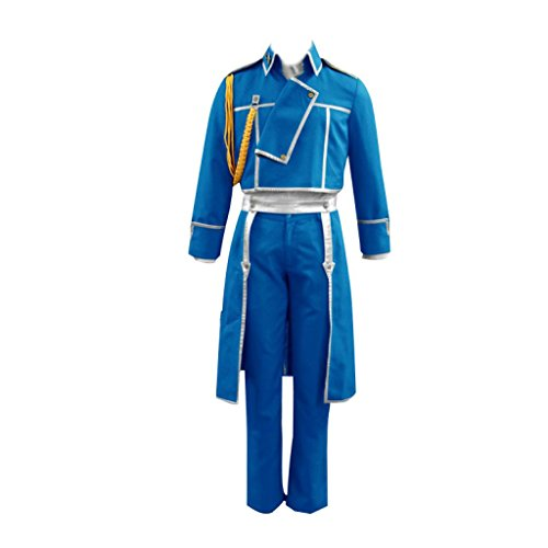 Fullmetal Alchemist Cosplay Costume - Colonel Roy Mustang Uniform1st XX-Large (Colonel Costume For Kids)