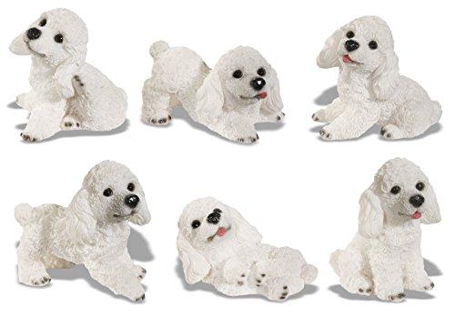 White Poodle Figurine - Katerina Prestige Figurine-Box of 6Poodle in White, na0457