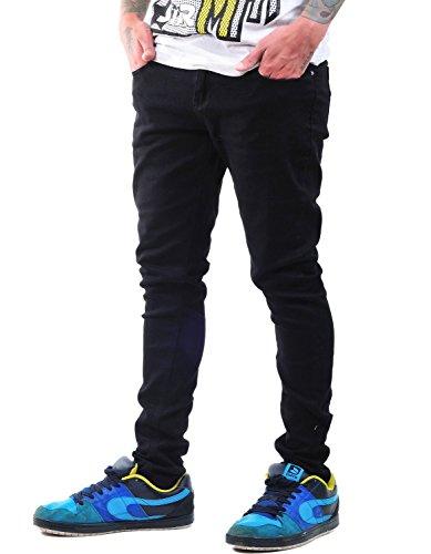 """Criminal Damage Jet Black Skinny Jeans W24"""" Regular"""