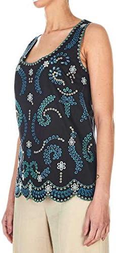 Luxury Fashion   Twin-Set Donna 201TT2120S1209100006 Nero Cotone Tank Top   Primavera-Estate 20