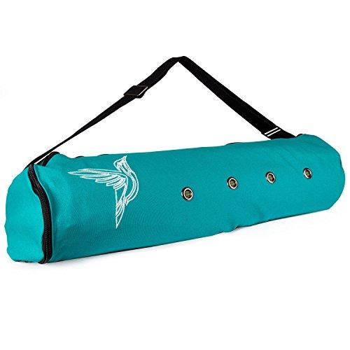 Peace Yoga Air Vent Yoga Mat Bag Turquoise Bird